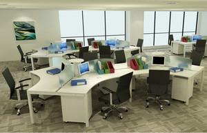 办公室一体化的桌椅图片