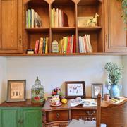 美式自然的书房