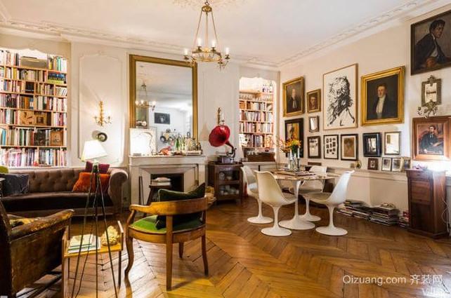 充满回忆的混搭风格客厅装修照片墙设计图片欣赏