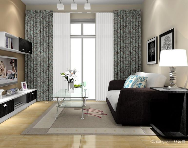 2015时尚简约国际范儿客厅沙发茶几装修效果图