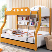温暖橙色儿童床图片