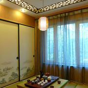 日式休闲的阳光房