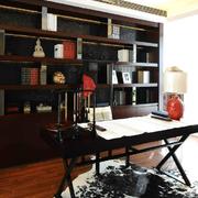 书房精致中式书架