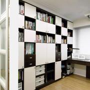 书房现代化的书架