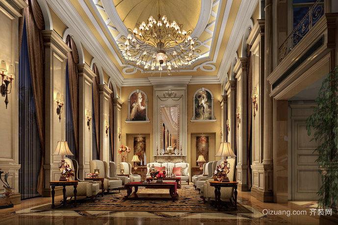 120平米奢华大气精美的法式客厅装修效果图
