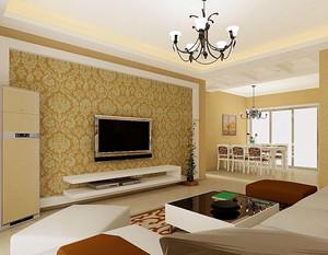 电视黄色背景墙