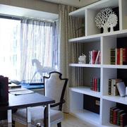 书房白色小书架