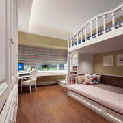 儿童房双层床布置