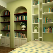 书房清新绿色地台