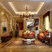 华丽的大户型客厅