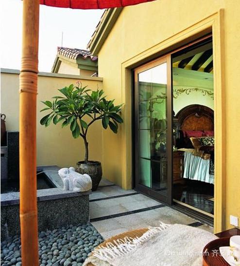 300平米别墅地中海风格露台花园装修效果图
