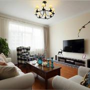 暖色调的客厅电视背景