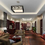 中式客厅地板展示