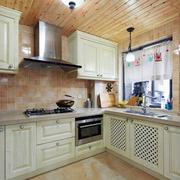 厨房自然木吊顶展示