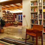 书房壁柜式书架展示