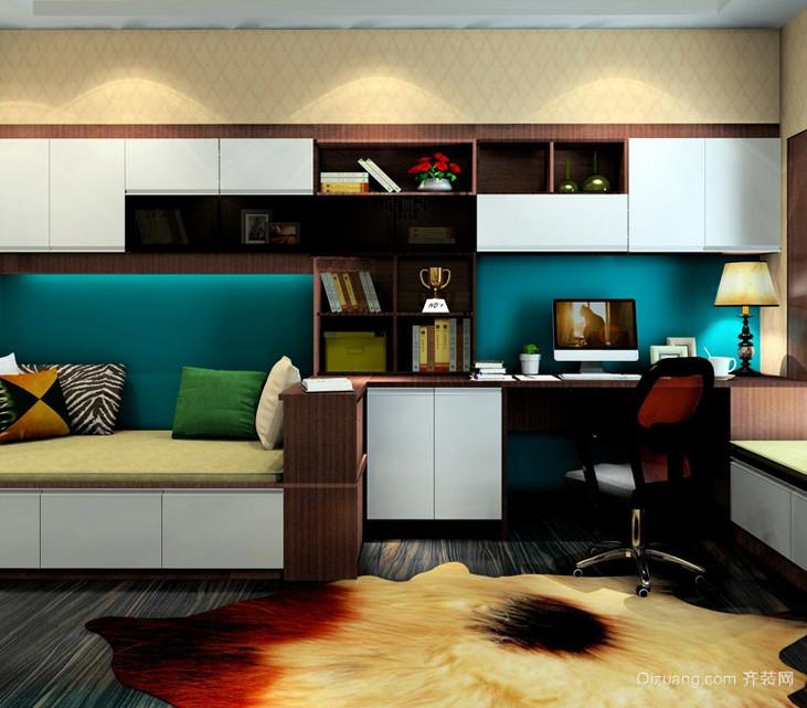 脚感舒适的书房生态木地板装修效果图