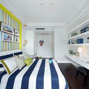 清新卧室条纹装饰
