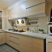 原木色的厨房展示