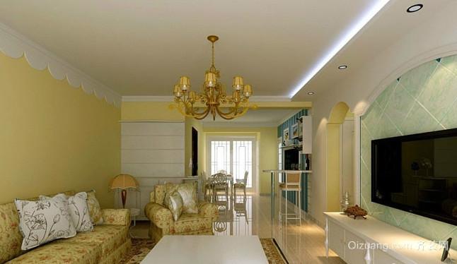 古典沉稳风格90平方米房屋装修效果图大全