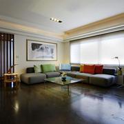 现代家庭简约的客厅布置
