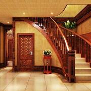 中式风格的楼梯