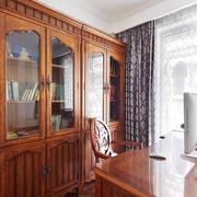 书房实木书柜书桌