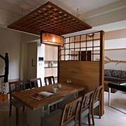 中式餐厅屏风隔断