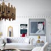 简约白色的客厅