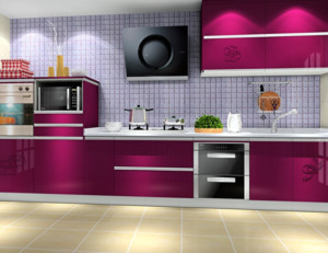厨房红色时尚橱柜