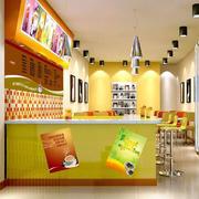 奶茶店吧台装潢