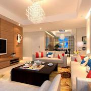 客厅实木电视背景墙
