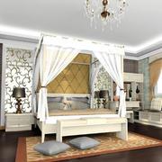 公主房卧室床幔