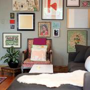 客厅花样照片墙