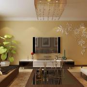 客厅温馨时尚电视背景墙