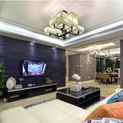 客厅文化砖电视墙