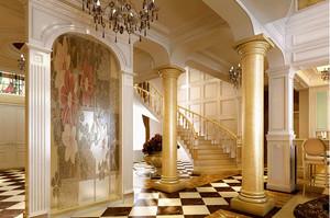 带有中国特色的楼梯设计图装修效果图
