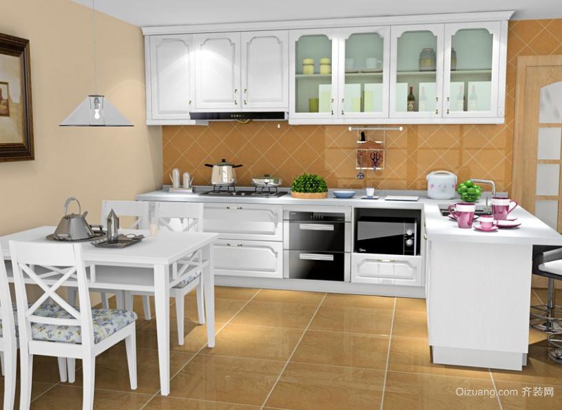 具有巴黎情调的开放式厨房装修效果图