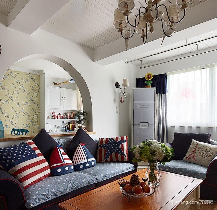小户型舒心的现代客厅地中海风格装修效果图鉴赏