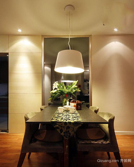 90平米客厅自带简欧风格餐厅装修效果图