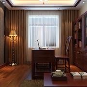 简约新中式风格的书房