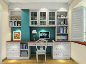 现代韩式田园风格书房家具装修设计效果图