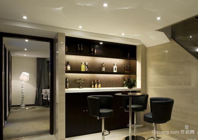 暖色调的新中式风格吧台设计装修图片大全
