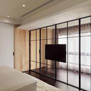 卧室玻璃电视背景墙