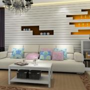 客厅独特的置物架