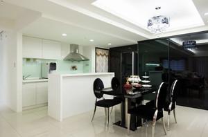 冷色调的新古典风格吧台设计装修图片大全