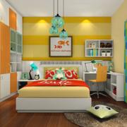黄色清新的儿童房