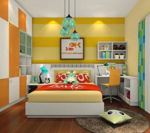 专为双子座打造的儿童房设计效果图