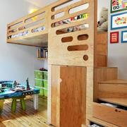 儿童床收纳阶梯设计