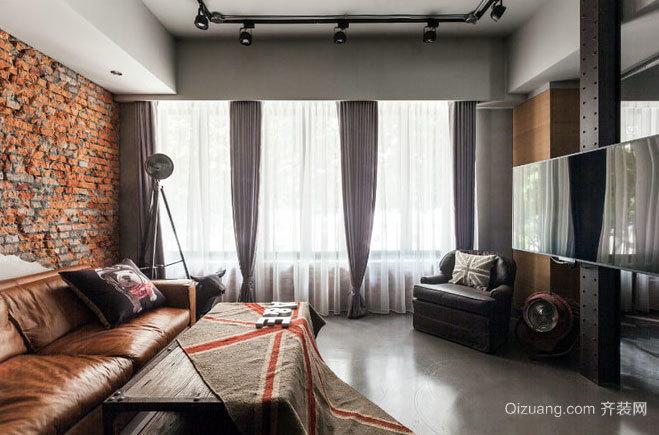 70平米张扬个性的都市混搭风格客厅装修效果图