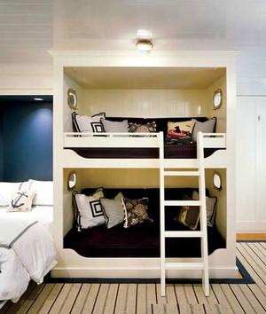 儿童实木双层床图片